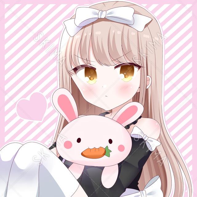 【ツンデレ】うさぎと少女アイコン