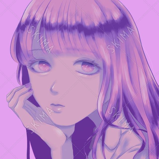 ゆるふわ/かわいい/ピンク/女の子(SNSアイコン)