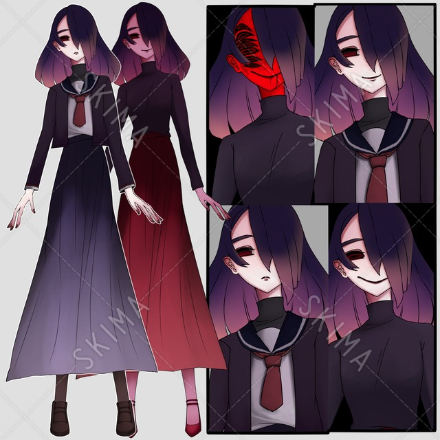 紫の女の子(10枚)