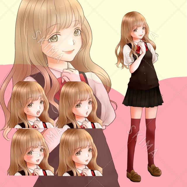 ゆるふわヘアの女子高生