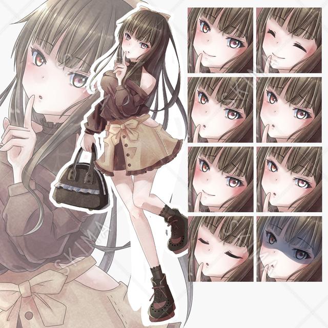 【差分8種類】肩だしスタイルの女の子4