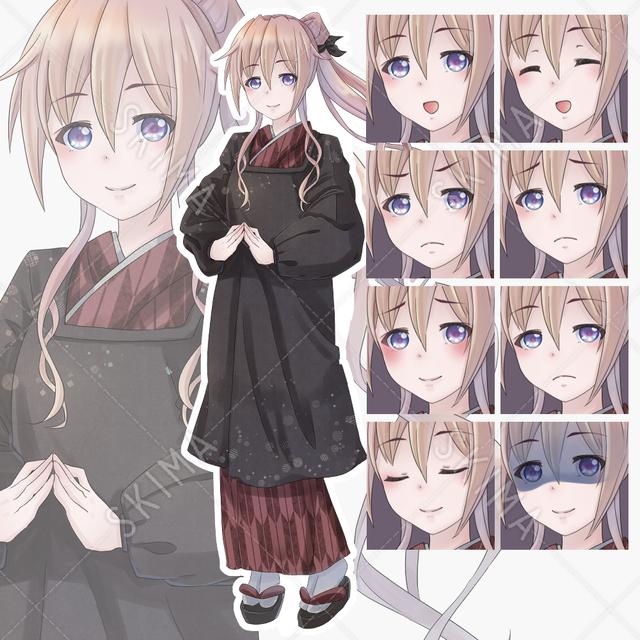 【差分8種類】和服の女の子6