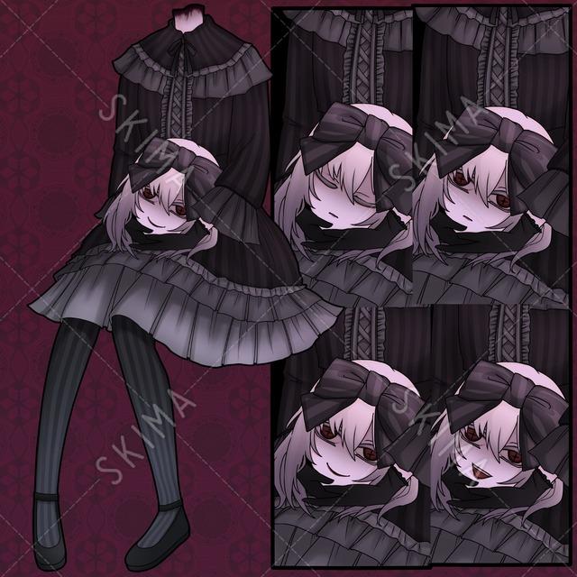 ゴスロリの女の子(差分4枚)