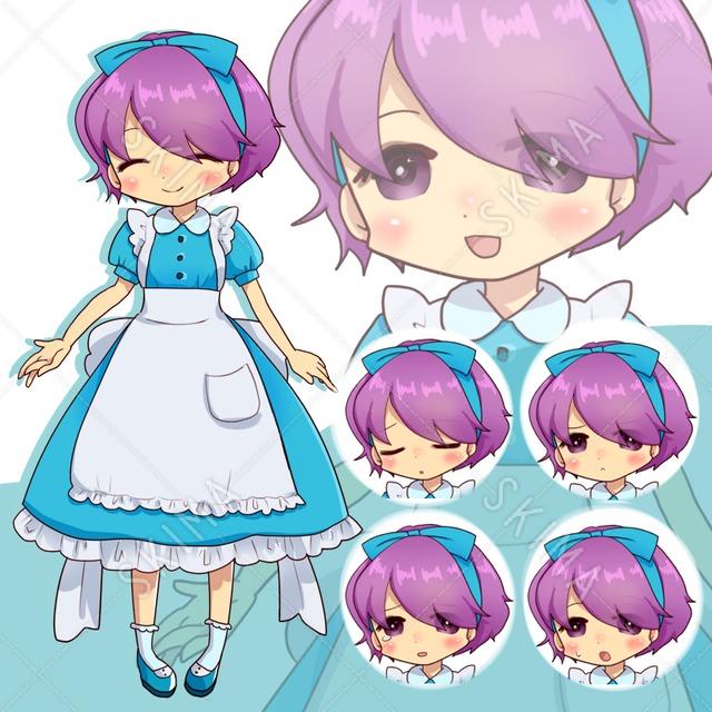 メイドドレスの女の子