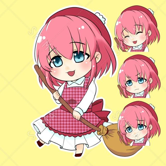 ピンクの女の子 透過 表情差分有り