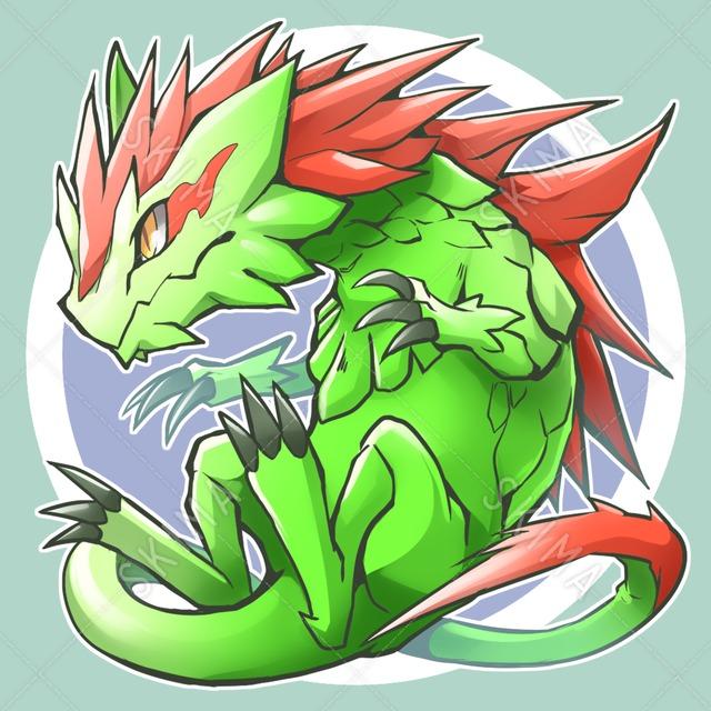 【アイコン+デザイン販売】赤鬣のトカゲ