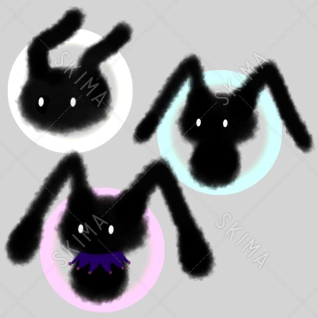 うさ耳型の黒いモンスター