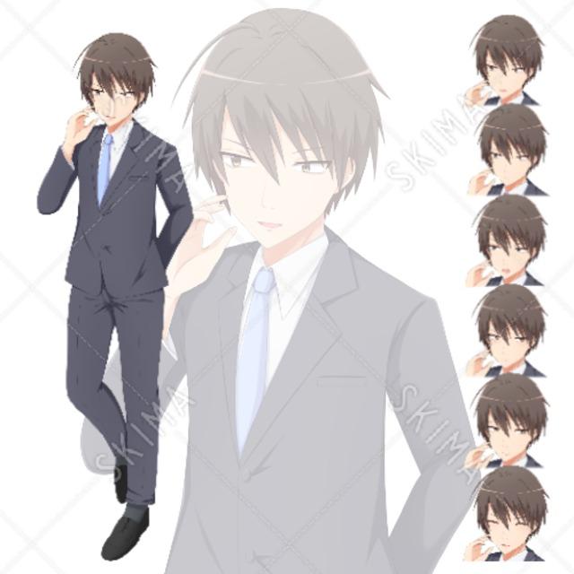 【値下げセール中!】不器用なスーツの男性