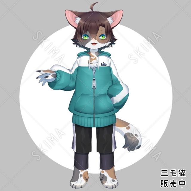 猫獣人(パーツ分け済)