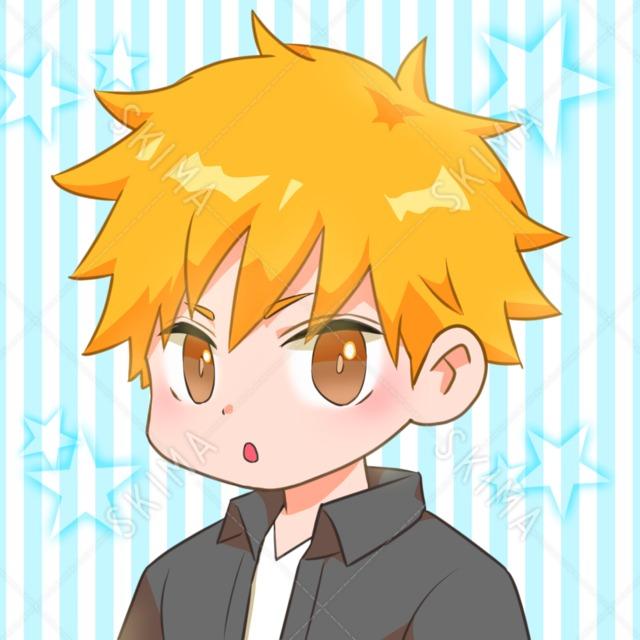 オレンジ髪の男の子
