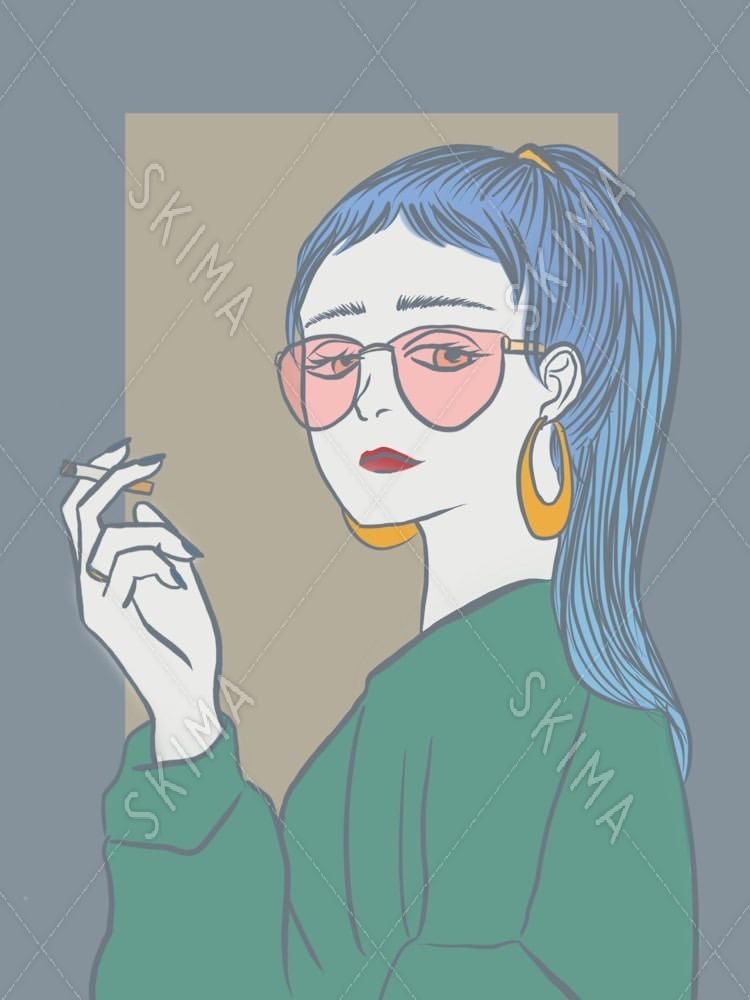 カッコイイ女性のイラスト スキマ スキルのオーダーメイドマーケット Skima
