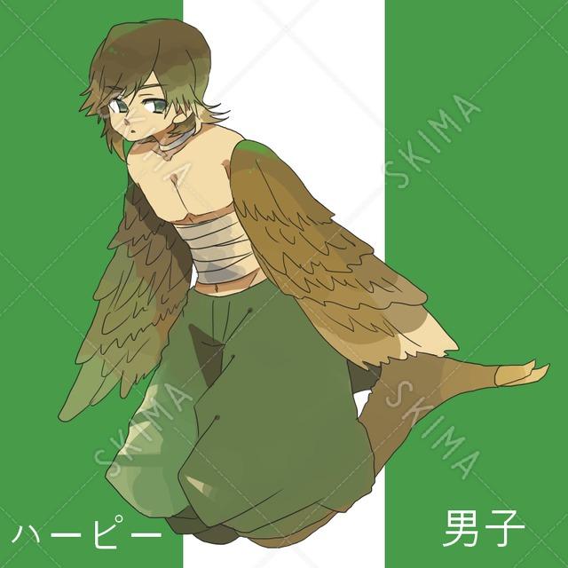 (立ち絵・敵グラ)ハーピー男子(値下げ)
