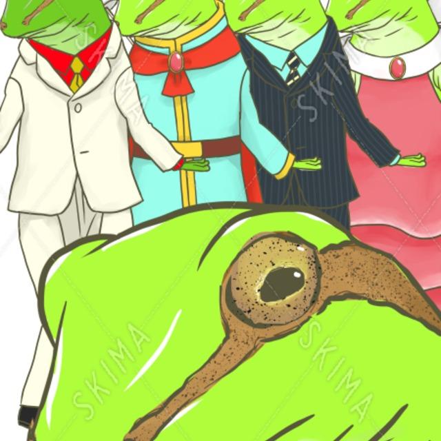 【衣装5種】アマガエル立ち絵・差し棒付き