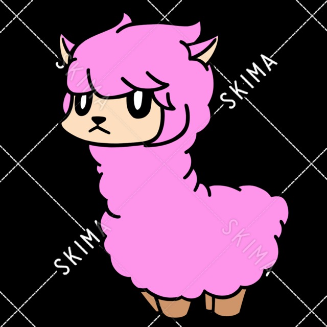 ピンクのアルパカ/SNSやイメージキャラクター等に