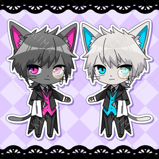 白ネコ・黒ネコ双子執事♪