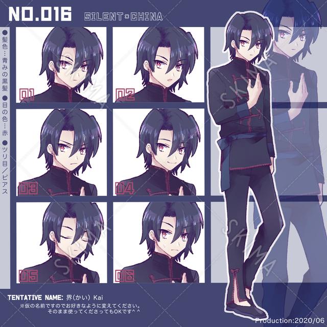 キャラクター016、無口なチャイナ服の少年