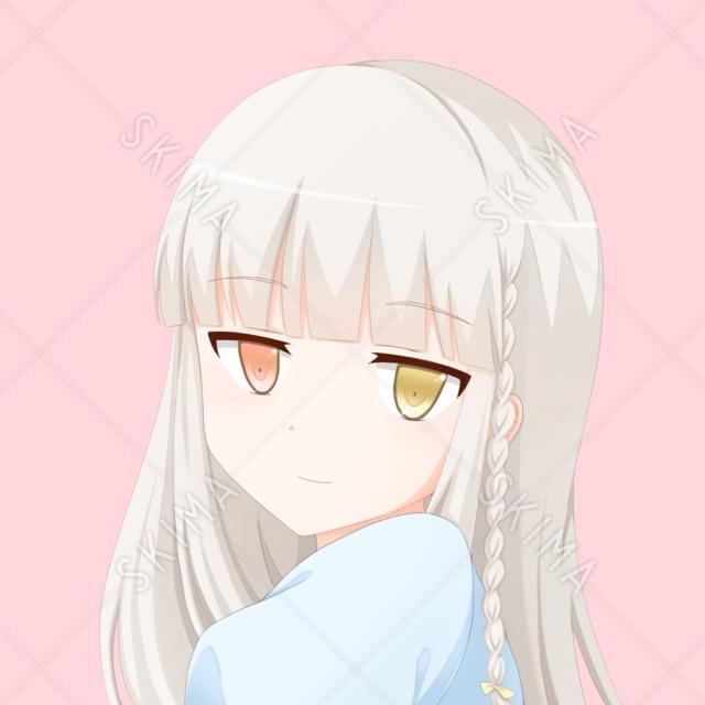 【SNSアイコン】オッドアイの少女