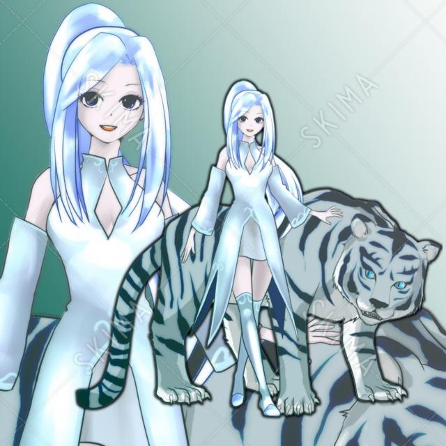 白虎と少女