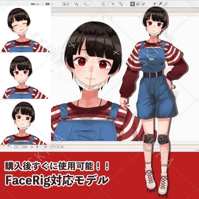 【VTuber向け】FaceRigに対応したLive2Dモデル【女の子6】