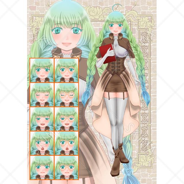 三つ編み女の子(ファンタジー風)