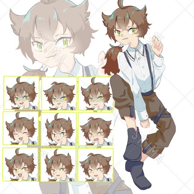 猫目の男の子【表情10種】