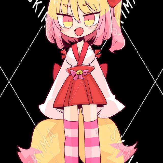 狐巫女の女の子