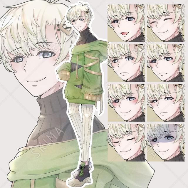 【差分8種類】パーカーの男子2