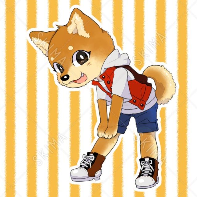 アイコンイラスト:柴犬の男の子