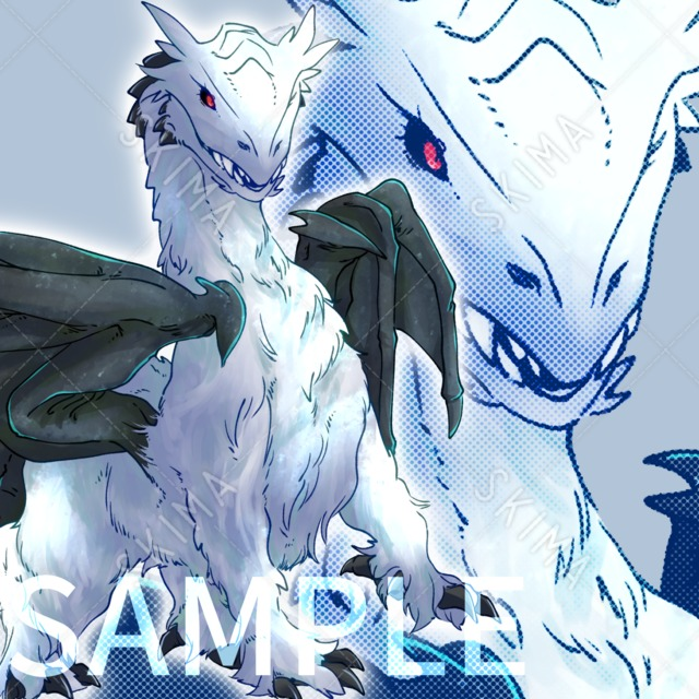 もふもふしたドラゴン