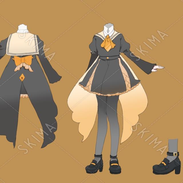 オリジナルデザインの制服イラスト