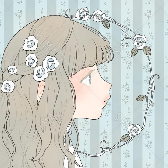 アイコンイラスト:メルヘンな女の子