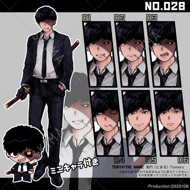 キャラクター028、帯刀スーツな傷痕お兄さん