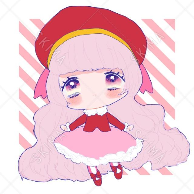 ピンク系の女の子(表情差分追加OK)SD
