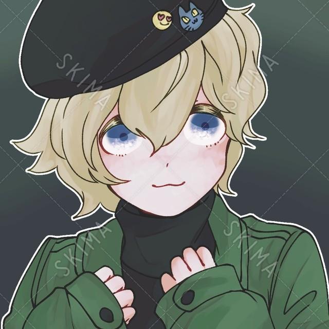【SNSアイコン】ベレー帽