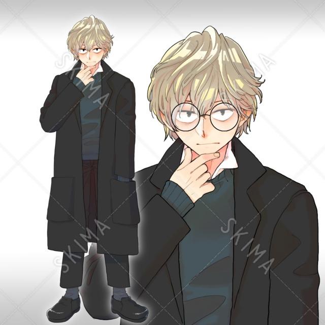 気難しそうな男の子:表情3種メガネ差分あり