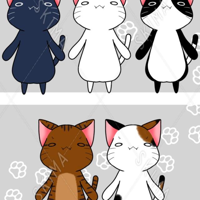 マスコットなゆるネコ 5種