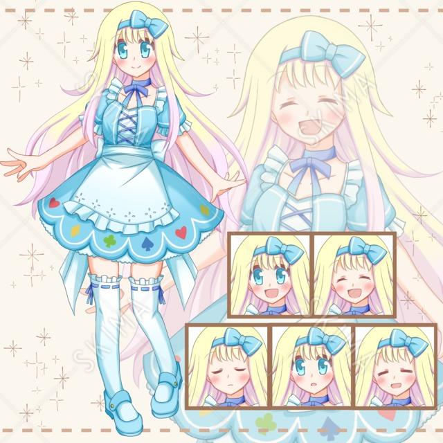 アリス風の少女【表情6種類】
