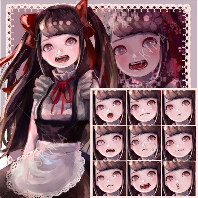 メイドの女の子【表情10種】