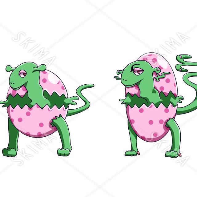 エッグのキャラクター (第一形態、第二形態)