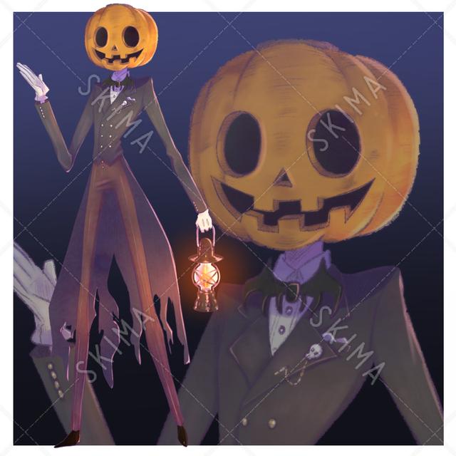ハロウィン パンプキン 紳士
