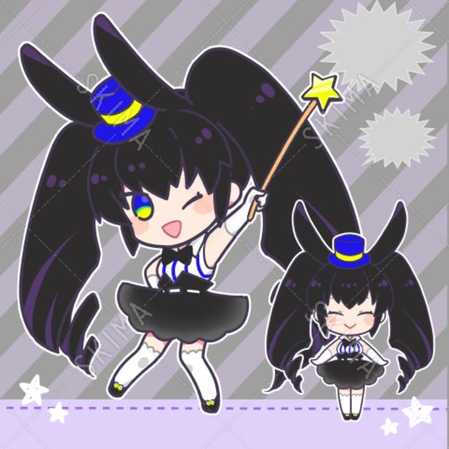 黒ウサギの女の子【ポーズ・表情差分5種】