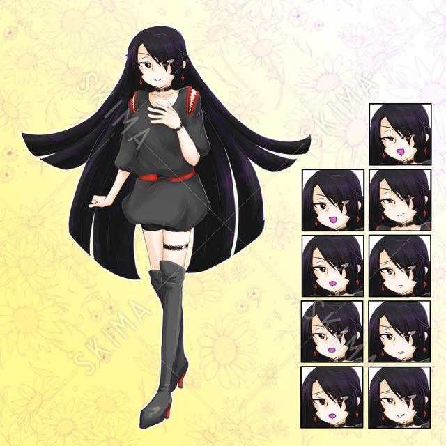 黒い服の女の子