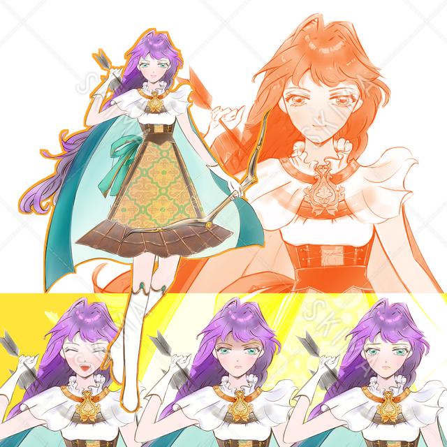 【表情4種】少女戦士1