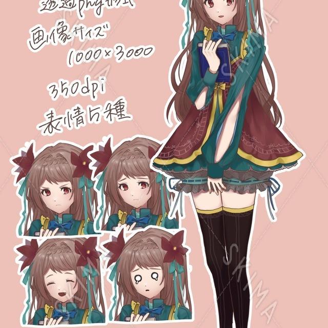 【立ち絵】文学少女【表情5種】