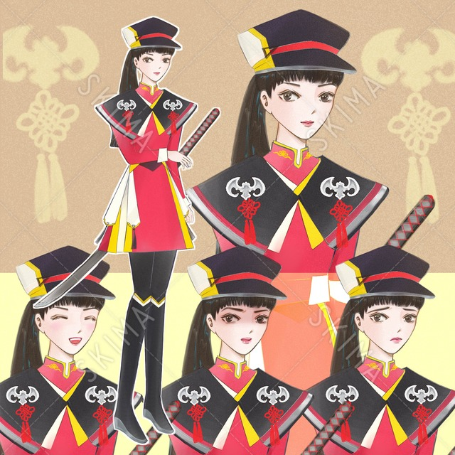 【表情4種/背景透過】自衛団の少女