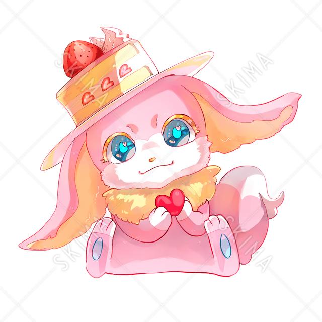 妖精:スイーツ帽子のうさぎ