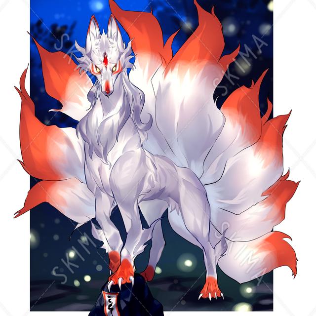 九尾狐(立ち絵)