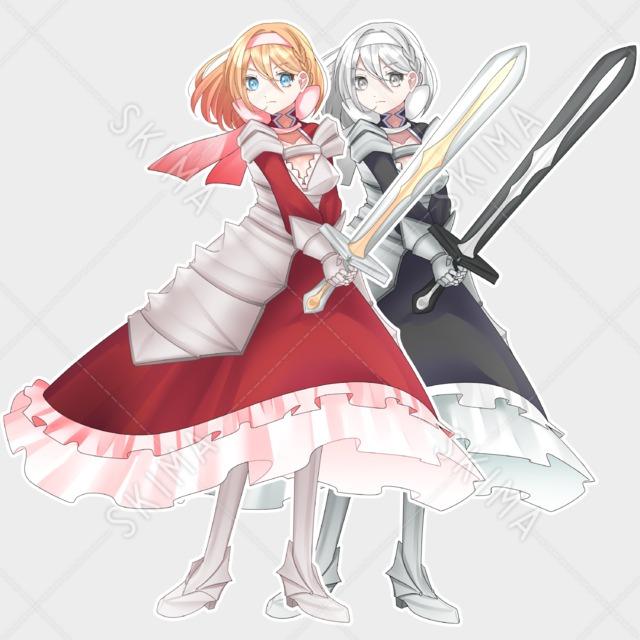 女剣士【表情7種】(カラー差分有り)