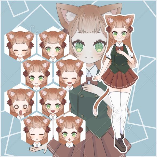 猫耳の女の子【差分8枚付】