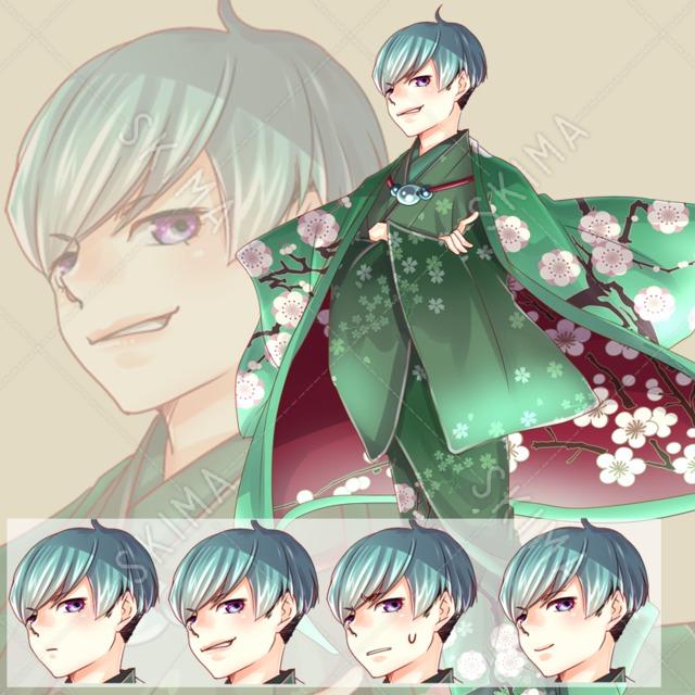 着物の少年 表情差分セット